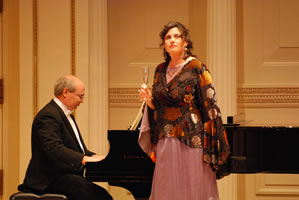 Karyn Levitt and Tom LaMark at Carnegie Hall